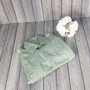 Ted Baker London Mens Size XL 5 Green Dress Shirt